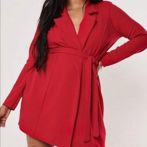 Red Wrap/Blazer Dress